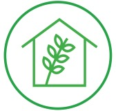 """<span class=""""light"""">Sustainable</span> living"""